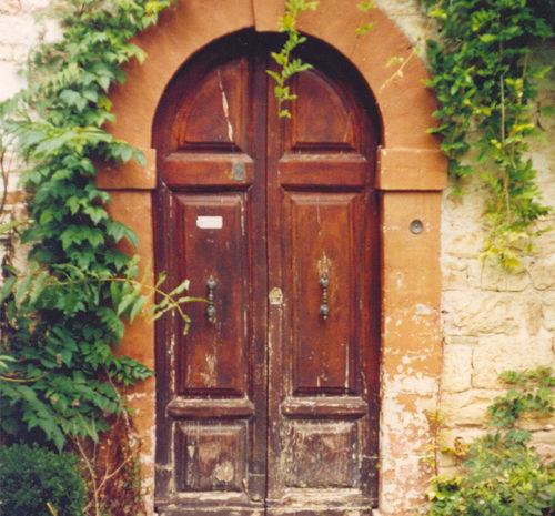 Il vecchio ingresso di Villa Pascolo