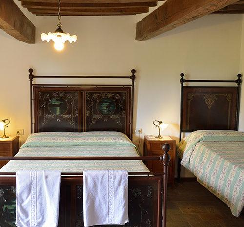 Una delle camere di Villa Pascolo